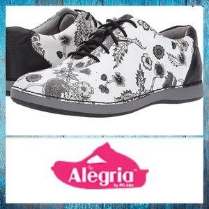 ALEGRIA Essence Winter White Leather Sneakers